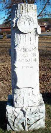 DUNLAP, G. F. - Washington County, Arkansas | G. F. DUNLAP - Arkansas Gravestone Photos