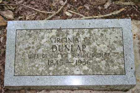 DUNLAP, VIRGINIA C - Washington County, Arkansas | VIRGINIA C DUNLAP - Arkansas Gravestone Photos