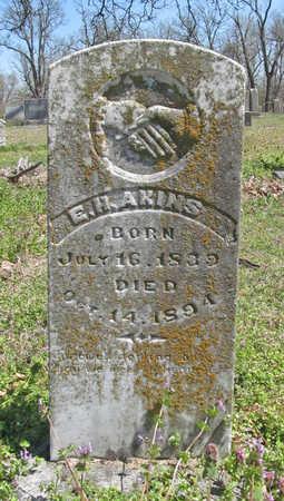 AKINS, E H - Washington County, Arkansas | E H AKINS - Arkansas Gravestone Photos