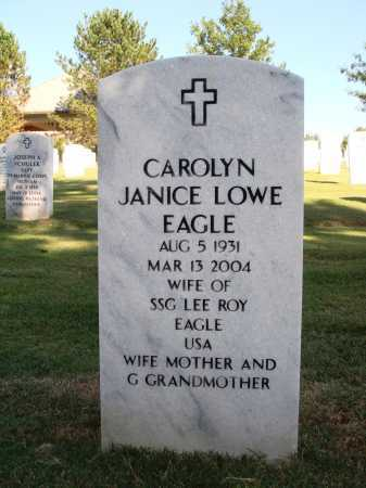 PATTERSON EAGLE, CAROLYN JANICE - Washington County, Arkansas | CAROLYN JANICE PATTERSON EAGLE - Arkansas Gravestone Photos