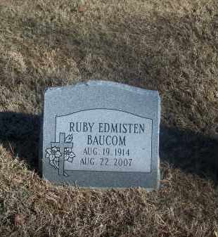 BAUCOM EDMISTEN, RUBY - Washington County, Arkansas | RUBY BAUCOM EDMISTEN - Arkansas Gravestone Photos