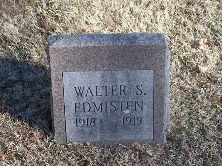EDMISTEN, WALTER S. - Washington County, Arkansas | WALTER S. EDMISTEN - Arkansas Gravestone Photos
