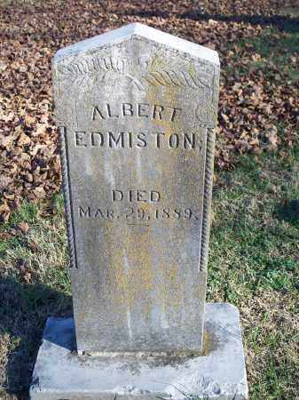 EDMISTON, ALBERT - Washington County, Arkansas | ALBERT EDMISTON - Arkansas Gravestone Photos