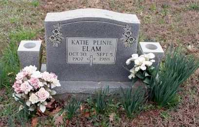 ELAM, KATIE PLINIE - Washington County, Arkansas | KATIE PLINIE ELAM - Arkansas Gravestone Photos