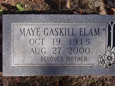 GASKILL ELAM, MAYE - Washington County, Arkansas | MAYE GASKILL ELAM - Arkansas Gravestone Photos