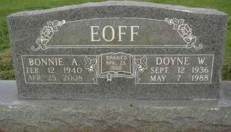EOFF, DOYNE W. - Washington County, Arkansas | DOYNE W. EOFF - Arkansas Gravestone Photos