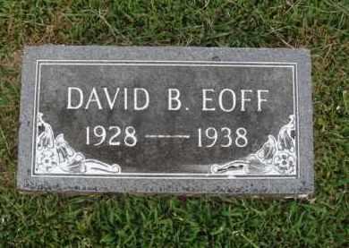 EOFF, DAVID B. - Washington County, Arkansas | DAVID B. EOFF - Arkansas Gravestone Photos