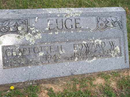 EUGE, CHARLOTTE H. - Washington County, Arkansas | CHARLOTTE H. EUGE - Arkansas Gravestone Photos