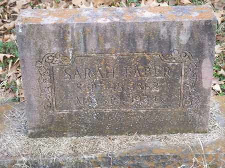 FABER, SARAH - Washington County, Arkansas | SARAH FABER - Arkansas Gravestone Photos