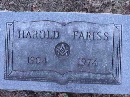 FARISS, HAROLD EDWARD - Washington County, Arkansas | HAROLD EDWARD FARISS - Arkansas Gravestone Photos