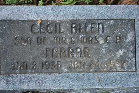 FARRAR, CECIL ALLEN - Washington County, Arkansas | CECIL ALLEN FARRAR - Arkansas Gravestone Photos