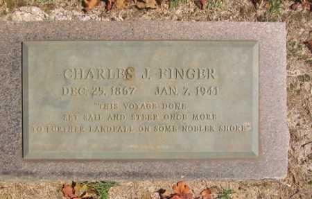 FINGER, CHARLES J. - Washington County, Arkansas | CHARLES J. FINGER - Arkansas Gravestone Photos