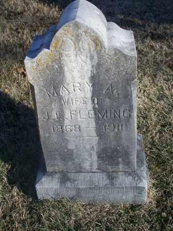 FLEMING, MARY A. - Washington County, Arkansas   MARY A. FLEMING - Arkansas Gravestone Photos