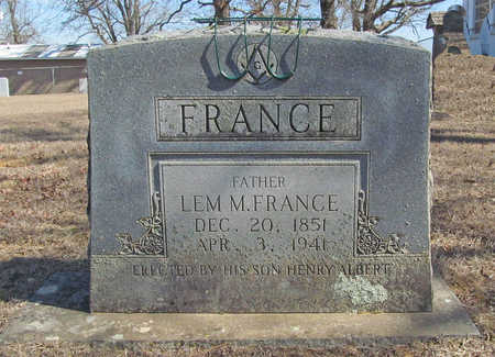 FRANCE, LEM M - Washington County, Arkansas | LEM M FRANCE - Arkansas Gravestone Photos