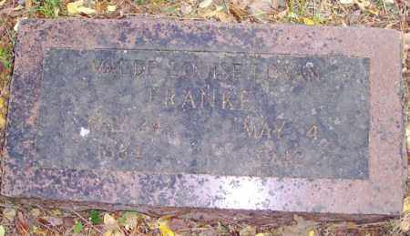 LOVAN FRANKE, MAUDE LOUISE - Washington County, Arkansas | MAUDE LOUISE LOVAN FRANKE - Arkansas Gravestone Photos