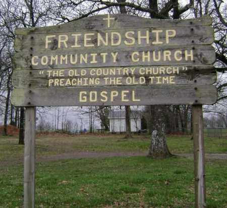 *FRIENDSHIP COMMUNITY CHURCH S,  - Washington County, Arkansas |  *FRIENDSHIP COMMUNITY CHURCH S - Arkansas Gravestone Photos