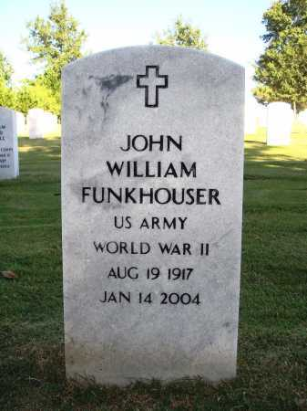 FUNKHOUSER  (VETERAN WWII), JOHN WILLIAM - Washington County, Arkansas | JOHN WILLIAM FUNKHOUSER  (VETERAN WWII) - Arkansas Gravestone Photos