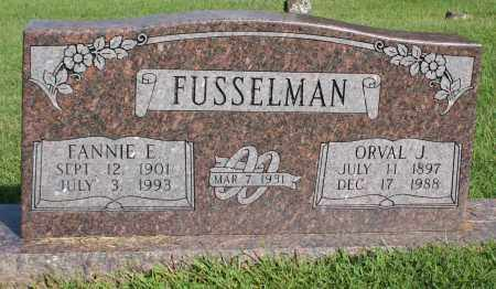 FUSSELMAN, FANNIE E. - Washington County, Arkansas | FANNIE E. FUSSELMAN - Arkansas Gravestone Photos