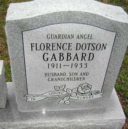 DOTSON GABBARD, FLORENCE - Washington County, Arkansas | FLORENCE DOTSON GABBARD - Arkansas Gravestone Photos