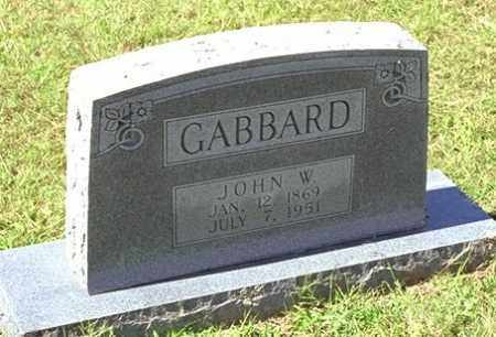 GABBARD, JOHN W - Washington County, Arkansas | JOHN W GABBARD - Arkansas Gravestone Photos