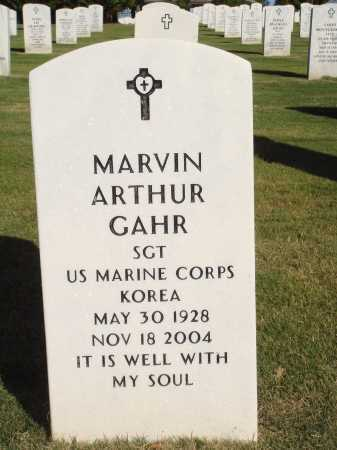 GAHR  (VETERAN KOR), MARVIN ARTHUR - Washington County, Arkansas | MARVIN ARTHUR GAHR  (VETERAN KOR) - Arkansas Gravestone Photos