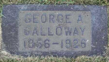 GALLOWAY, GEORGE A. - Washington County, Arkansas | GEORGE A. GALLOWAY - Arkansas Gravestone Photos
