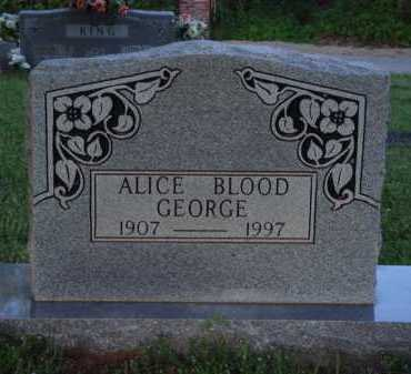 GEORGE, ALICE - Washington County, Arkansas | ALICE GEORGE - Arkansas Gravestone Photos