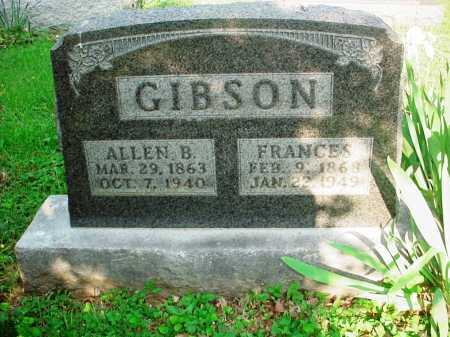 GIBSON, FRANCES - Washington County, Arkansas | FRANCES GIBSON - Arkansas Gravestone Photos