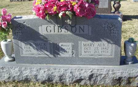 GIBSON, MARY ALICE - Washington County, Arkansas | MARY ALICE GIBSON - Arkansas Gravestone Photos
