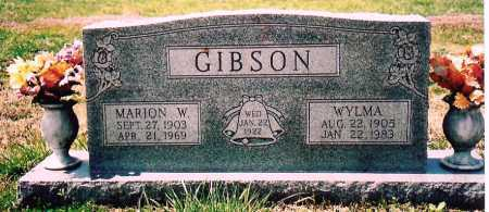 GIBSON, MARION W. - Washington County, Arkansas | MARION W. GIBSON - Arkansas Gravestone Photos