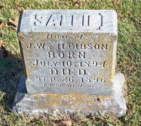 GIBSON, SALLIE - Washington County, Arkansas | SALLIE GIBSON - Arkansas Gravestone Photos