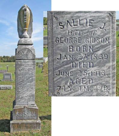 GIBSON, SALLIE J - Washington County, Arkansas | SALLIE J GIBSON - Arkansas Gravestone Photos