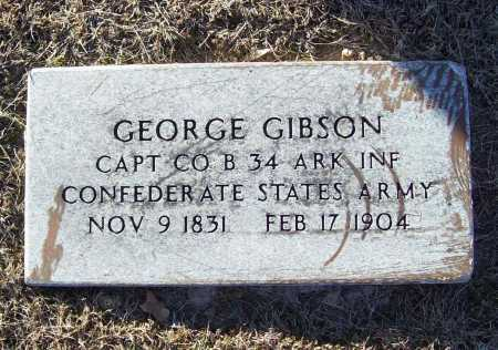 GIBSON (VETERAN CSA), GEORGE - Washington County, Arkansas | GEORGE GIBSON (VETERAN CSA) - Arkansas Gravestone Photos