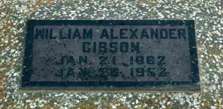 GIBSON, WILLIAM ALEXANDER - Washington County, Arkansas | WILLIAM ALEXANDER GIBSON - Arkansas Gravestone Photos