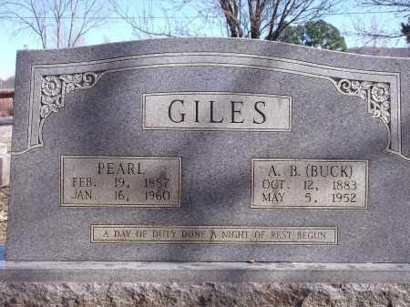 GILES, A. B. (BUCK) - Washington County, Arkansas | A. B. (BUCK) GILES - Arkansas Gravestone Photos
