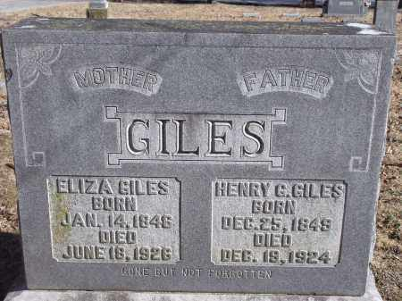 GILES, ELIZA - Washington County, Arkansas | ELIZA GILES - Arkansas Gravestone Photos