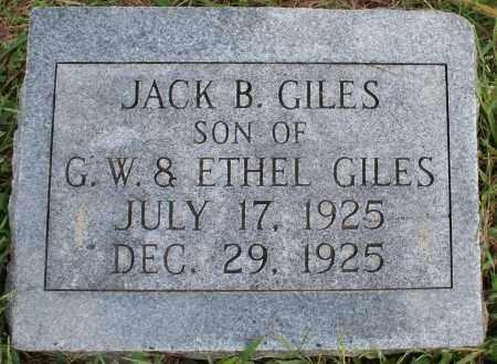 GILES, JACK B. - Washington County, Arkansas | JACK B. GILES - Arkansas Gravestone Photos