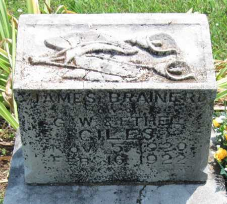 GILES, JAMES BRAINERD - Washington County, Arkansas | JAMES BRAINERD GILES - Arkansas Gravestone Photos