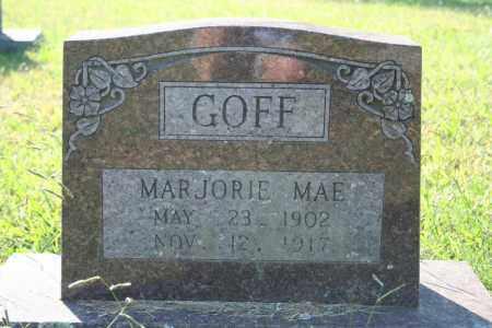 GOFF, MARJORIE MAE - Washington County, Arkansas   MARJORIE MAE GOFF - Arkansas Gravestone Photos