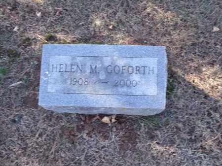 GOFORTH, HELEN M. - Washington County, Arkansas | HELEN M. GOFORTH - Arkansas Gravestone Photos
