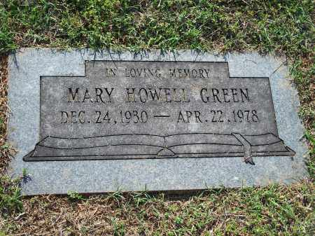 HOWELL GREEN, MARY (ORIGINAL) - Washington County, Arkansas | MARY (ORIGINAL) HOWELL GREEN - Arkansas Gravestone Photos
