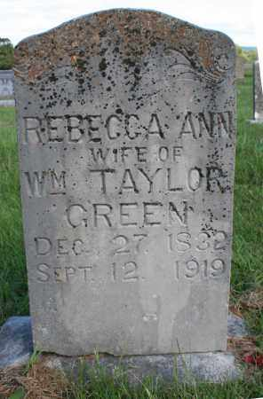 GREEN, REBECCA ANN - Washington County, Arkansas | REBECCA ANN GREEN - Arkansas Gravestone Photos
