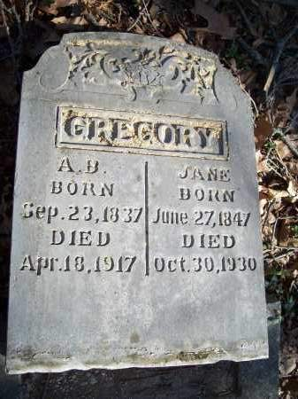 GREGORY, JANE - Washington County, Arkansas | JANE GREGORY - Arkansas Gravestone Photos