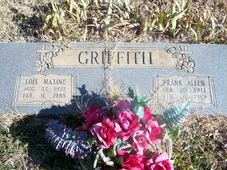 GRIFFITH, FRANK ALLEN - Washington County, Arkansas | FRANK ALLEN GRIFFITH - Arkansas Gravestone Photos