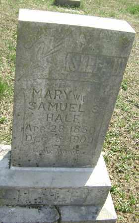 HALE, MARY - Washington County, Arkansas | MARY HALE - Arkansas Gravestone Photos