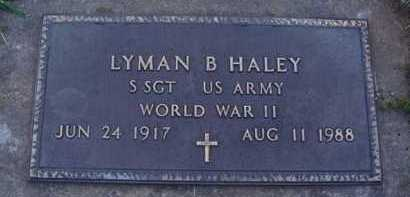 HALEY  (VETERAN WWII), LYMAN B. - Washington County, Arkansas | LYMAN B. HALEY  (VETERAN WWII) - Arkansas Gravestone Photos