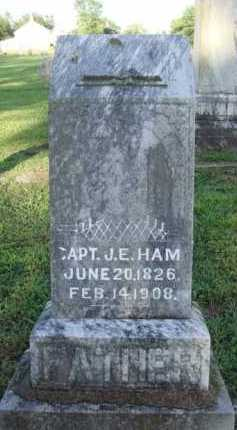 HAM, J. E. - Washington County, Arkansas | J. E. HAM - Arkansas Gravestone Photos