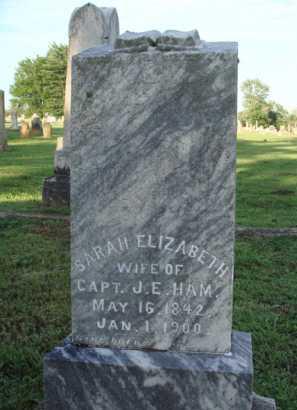 HAM, SARAH ELIZABETH - Washington County, Arkansas | SARAH ELIZABETH HAM - Arkansas Gravestone Photos