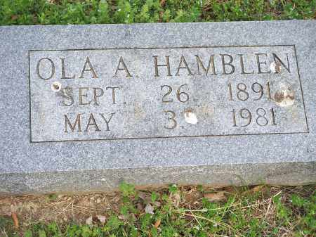 HAMBLEN, OLA A. - Washington County, Arkansas | OLA A. HAMBLEN - Arkansas Gravestone Photos