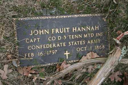 HANNAH (VETERAN CSA), JOHN FRUIT - Washington County, Arkansas | JOHN FRUIT HANNAH (VETERAN CSA) - Arkansas Gravestone Photos
